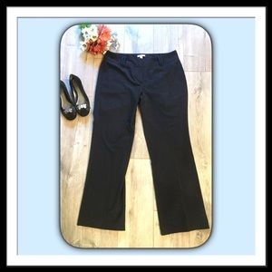 New York & Company Straight Leg Pants, Sz 14,Black